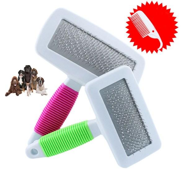 Pet Puppy Dog Cat Hair Shedding Grooming Pet Hair Trimmer Fur Comb Brush Slicker Tool