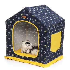 Puppy Pet Cat Dog Soft Warm Tent Bed Cushion Sleeping House Washable And Detachable