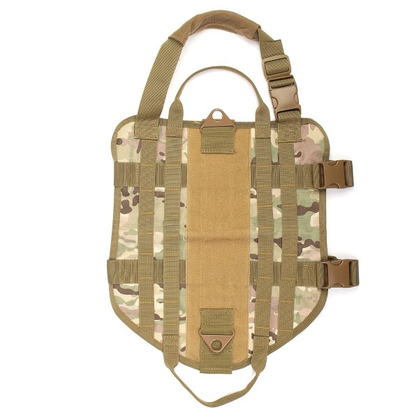 Tactical K9 Dog Military Police Molle Vest Nylon Service Canine Dog Harness XL