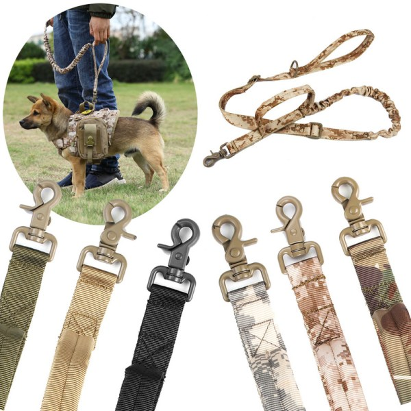Zanlure DTR4 155cm Dog Traction Rope Multi-Function Adjustable Dog Lead Running Rope Training Pet Nylon Rope Hunting Training Waist Belt