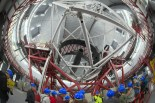 Il Gran Telescopio Canarias (o GranTeCan) è il più grande telescopio ospitato a Roque de Los Muchachos: ha uno specchio composito del diametro complessivo di 10,4 m. (Un sesntito rignraziamento a Pascal per avermi imprestato la sua lente fishye , senza la quale questo scatto non sarebbe stato possibile).
