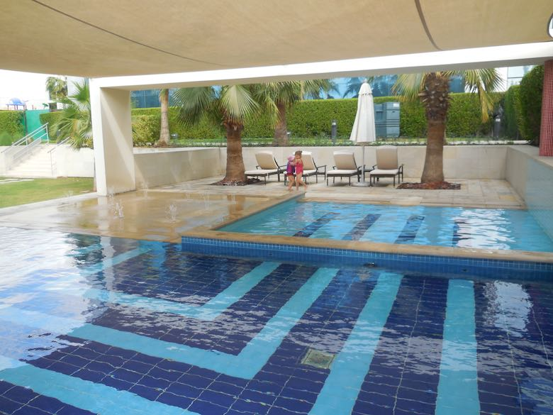 An image of the children's pool in the Fairmont Baba Al Bahr hotel in Abu Dhabi