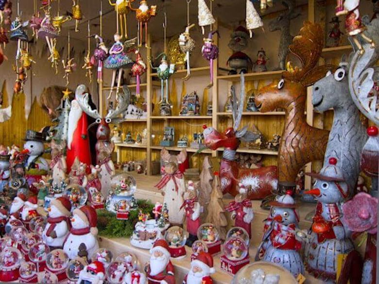 Christmas decoration from a stand during the season of Christmas in Cologne
