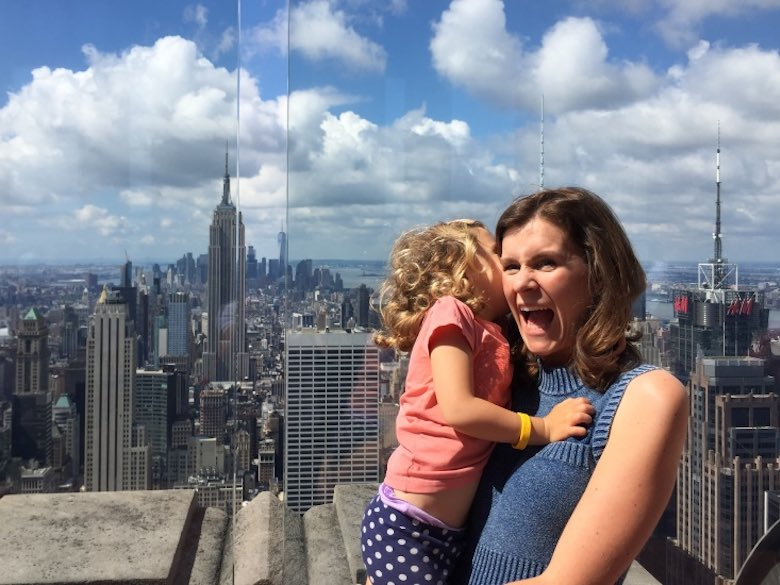 Mother-daughter fun on Top of the Rock