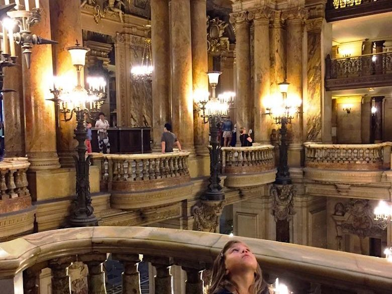 Alegra is fascinated by the beautiful Opera Garnier in Paris