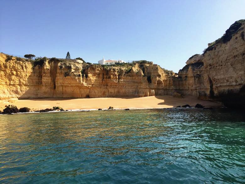 Secluded beach along the stunning coast of the authentic Algarve in Portugal