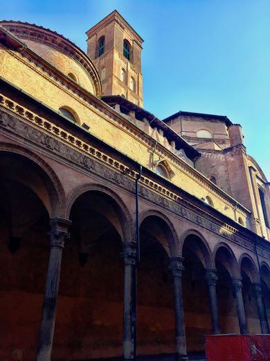 Side view of Palazzo Pogni in Bologna's university district