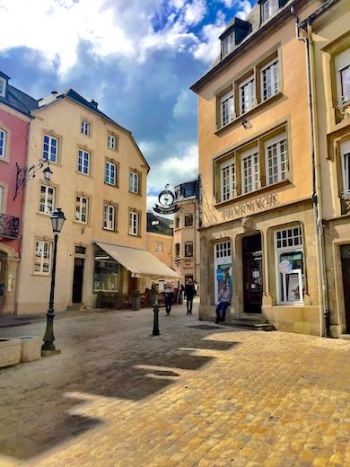 The streets and charming houses of Echternach in Luxemburg