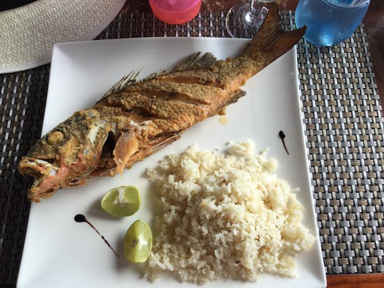 Lunch at a Playa Cacique hotel on Isla Contadora, the ultimate one-day beach getaway from Panama City