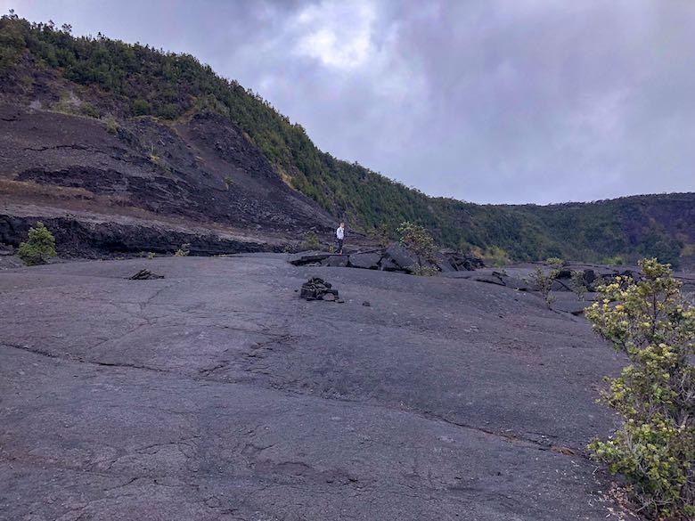 Kilauea Iki crater in Hawaii Volcanoes National Park on Big Island Hawaii