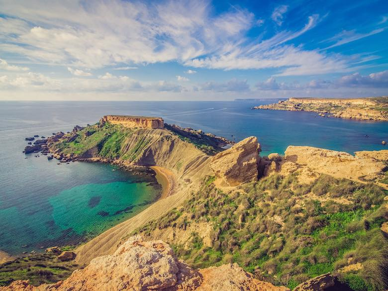 Golden Bay offers one of the best beaches in Malta