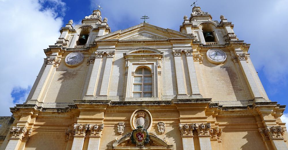St Pauls Cathedral in Malta's Mdina