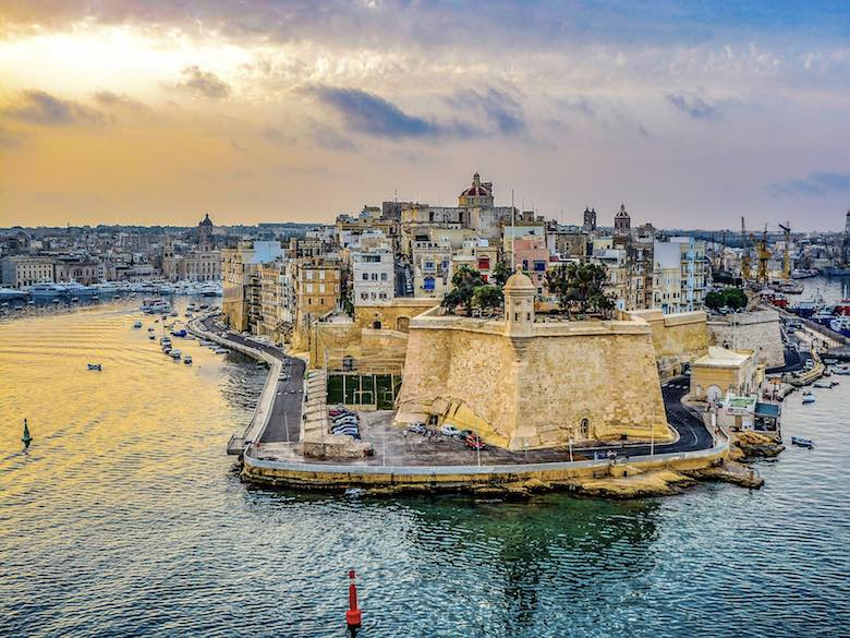 Grand Harbour views over Three Cities Malta