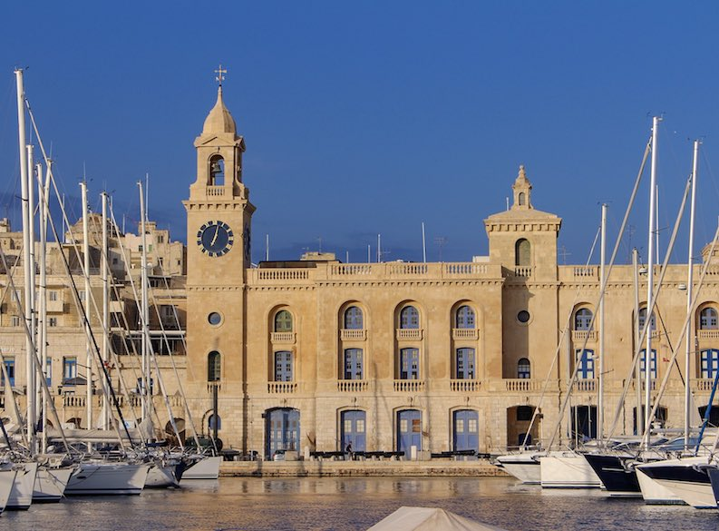 A view of the harbour of Vittoriosa or Birgu