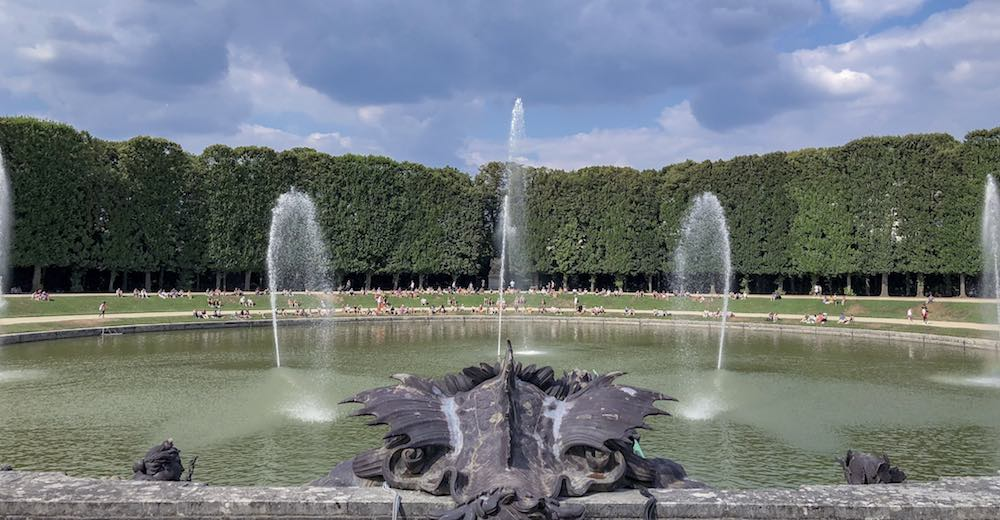 The Musical Fountains Show in the Gardens of Versailles France