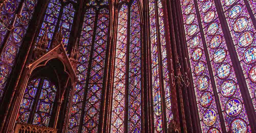 The stained glass windows of Sainte-Chapelle in Paris