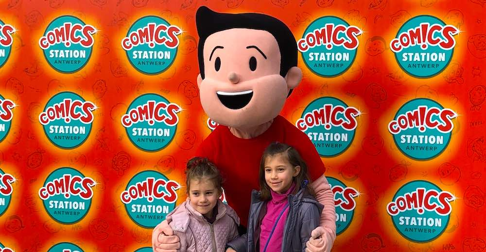 Aankomst in Comics Station Antwerp