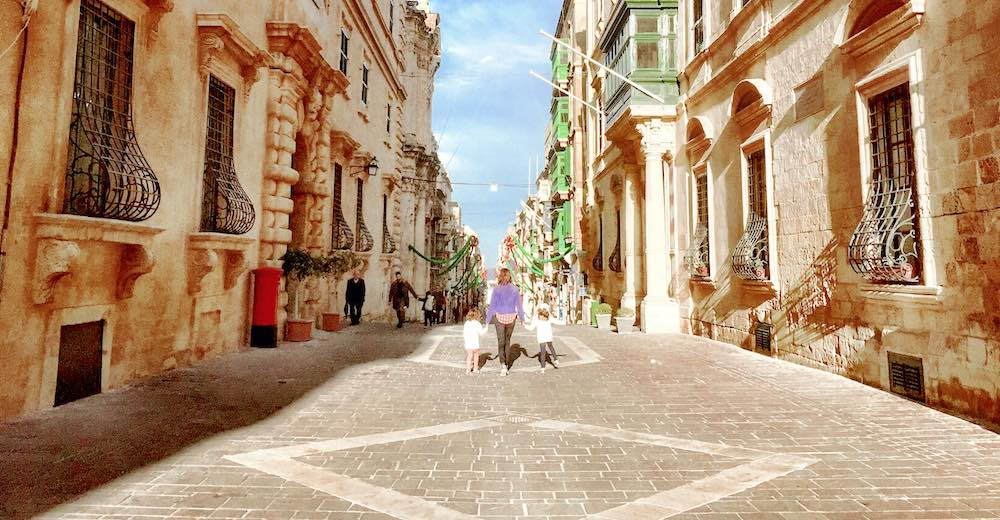 The streets of Valletta, one of the most stunning places to visit in Malta