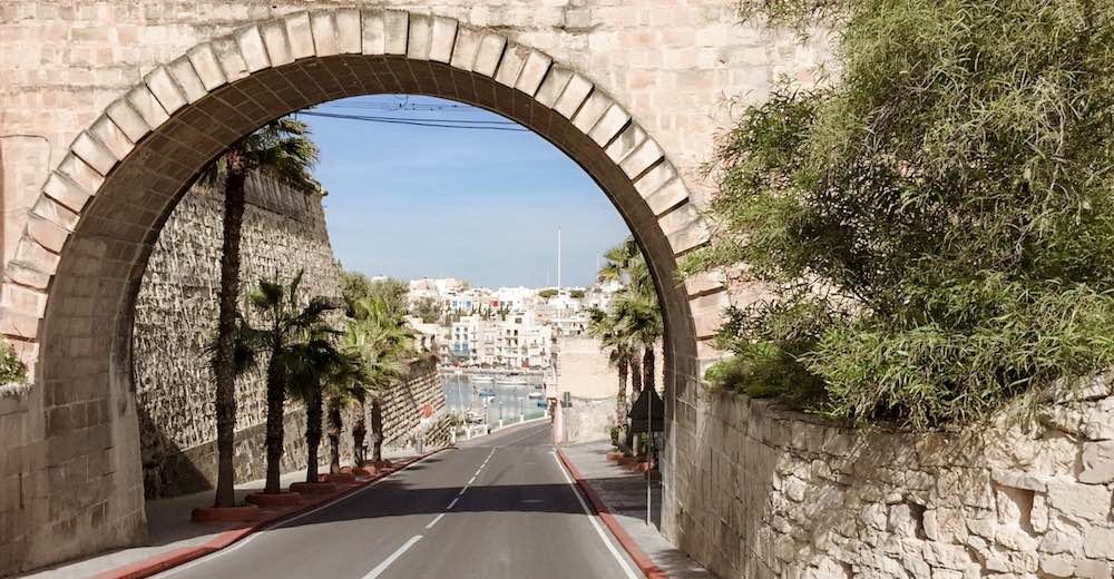 Gateway in the remains of the Cottonera Lines, used to defend the Three Cities of Malta from enemies