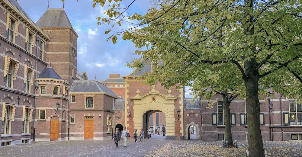 One of the impressive entrance gates to the Binnenhof, one of the The Hague netherlands points of interest