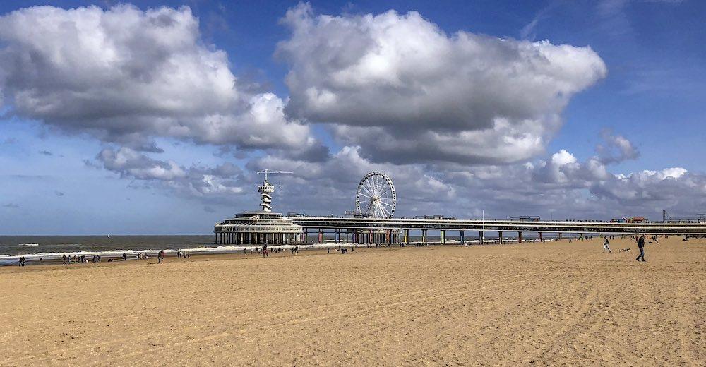 Scheveningen beach, one of the beaches in The Hague