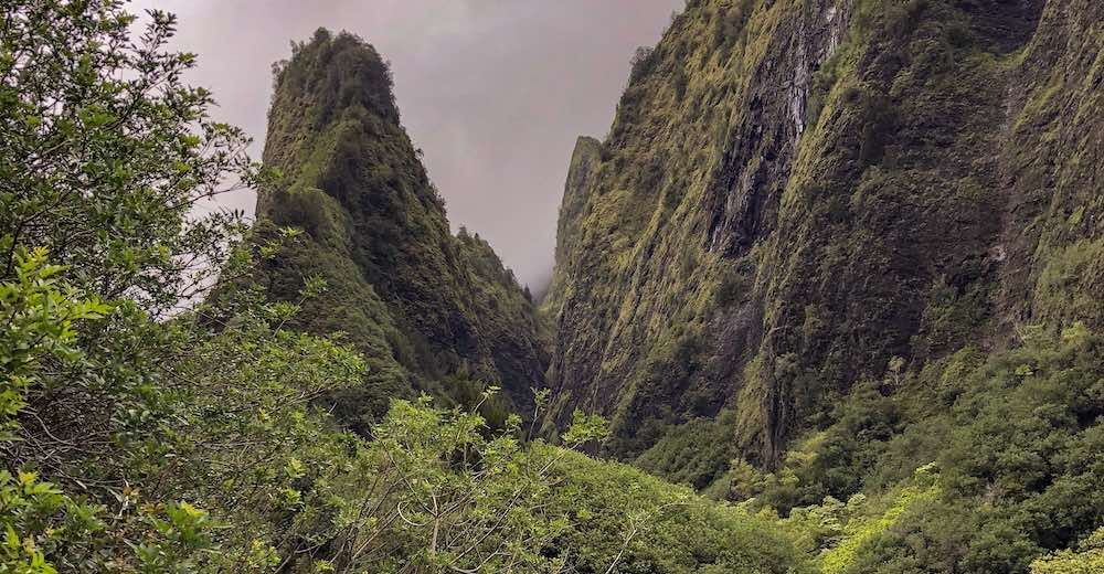 Mystic 'Iao Valley offers a short yet very interesting hike in Maui