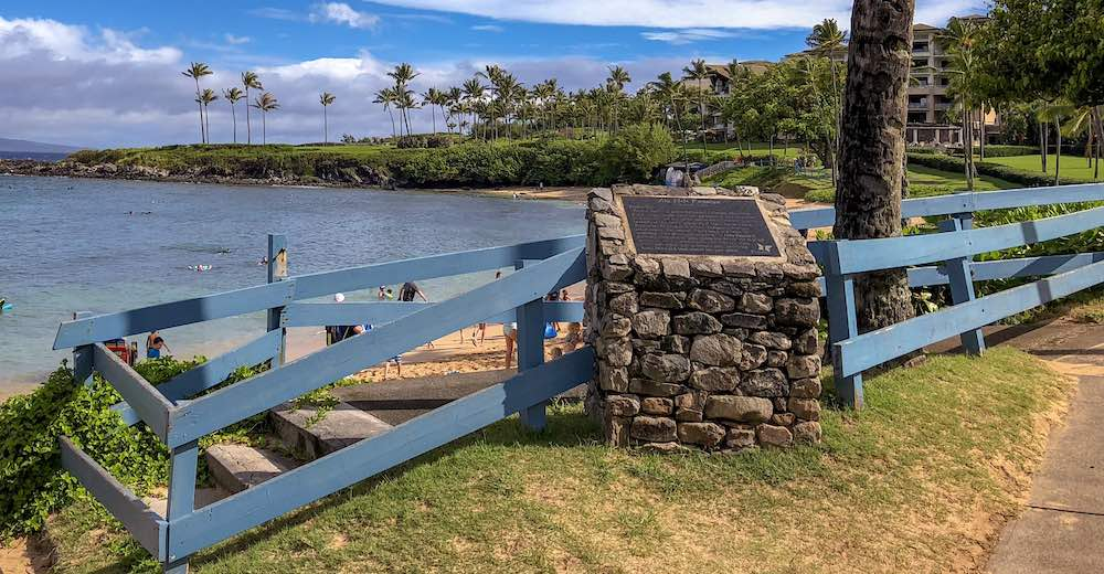 The trailhead for the Kapalua Coastal Hike, the most family-friendly hike on Maui