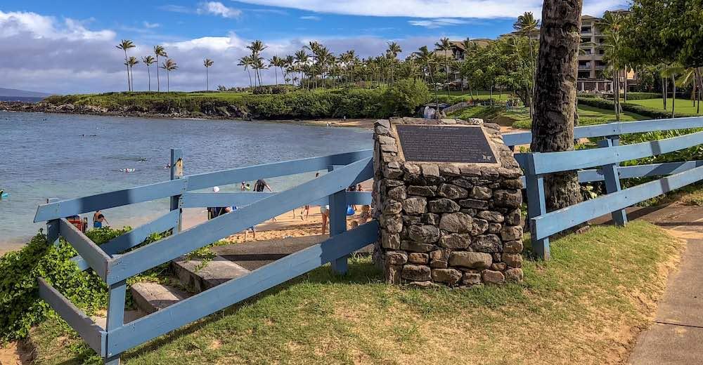 The trailhead for the Kapalua Coastal Hike, the most family-friendly hike on Maui