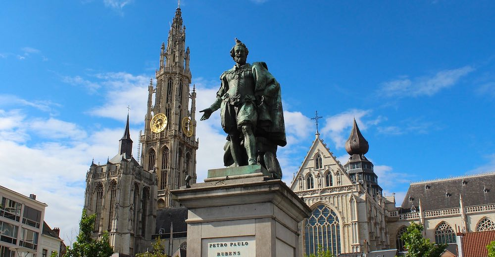 The historic center of Antwerp, a perfect day trips from Brussels, Belgium