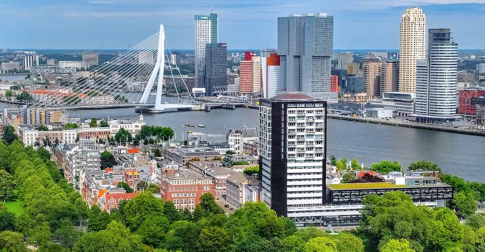 The center of Rotterdam, close enough to Brussels for a day trip