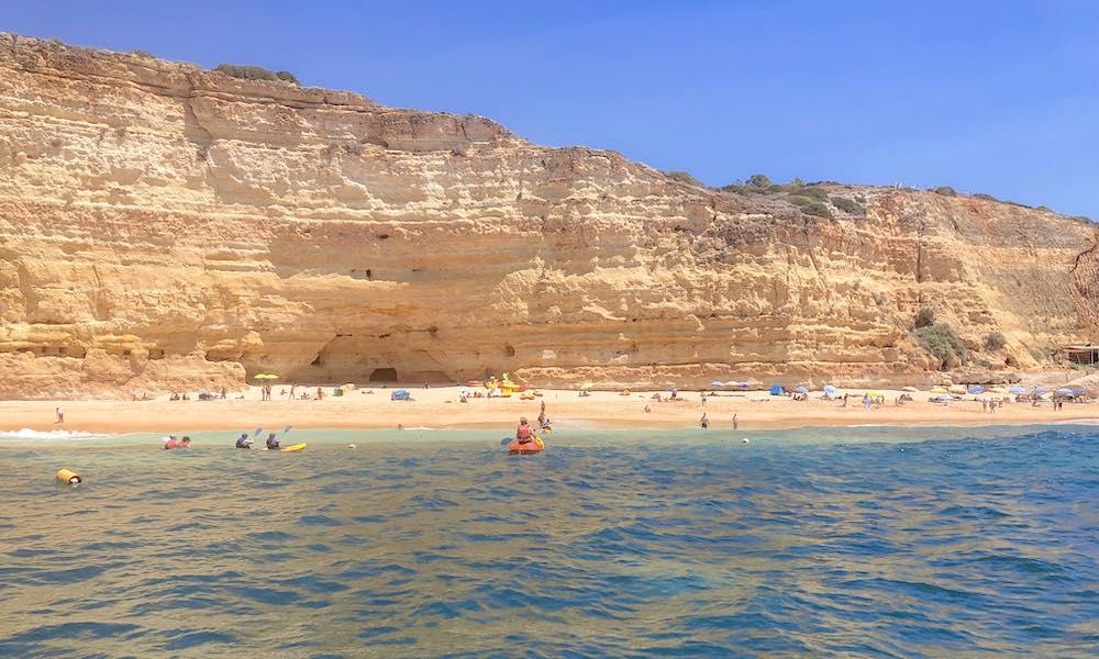Kayak tour leaving from Vale de Centeanes beach