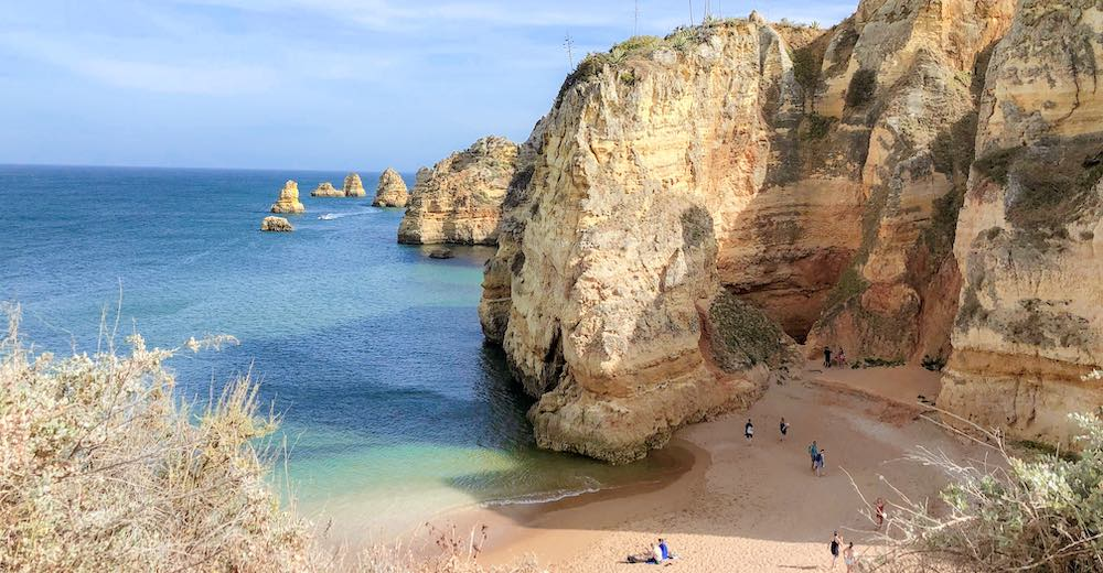 Nature around Lagos is spectacular making it one of our favorite places to stay in Algarve Portugal