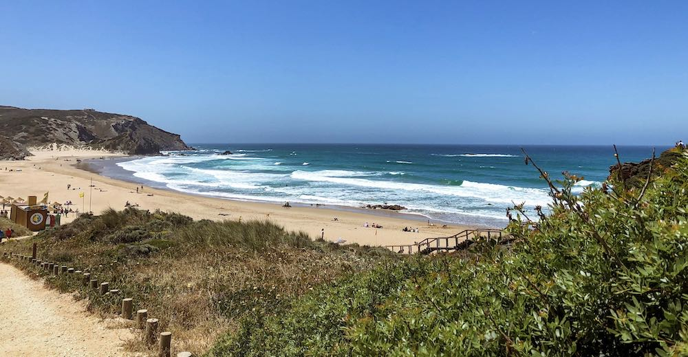 View over Praia do Amado beach at the Costa Vicentina