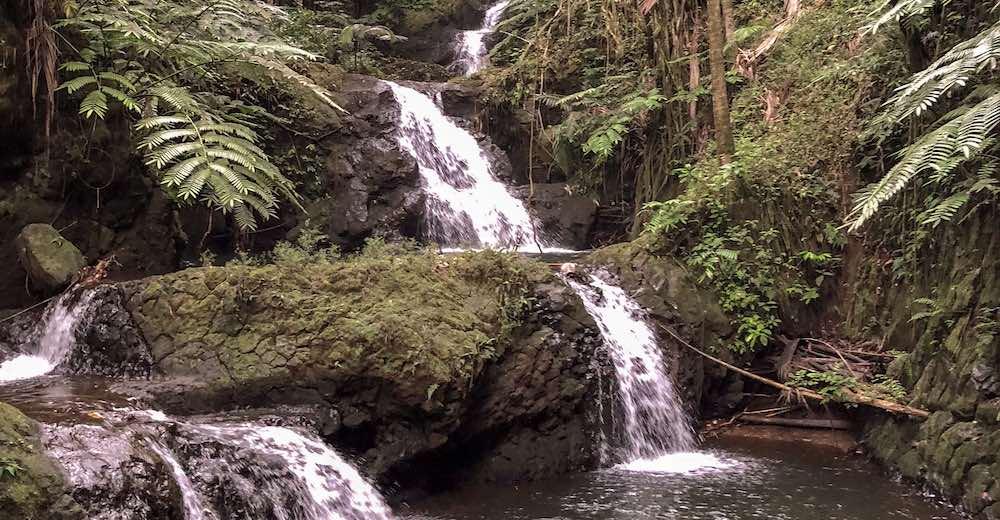 Onomea waterfalls Big Island Hawaii