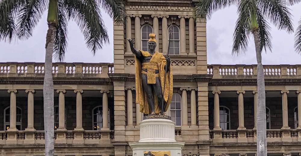 One of the most interesting facts about Hawaii is that the statue of King Kamehameha in front of the Supreme Court is not the original one