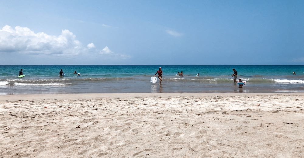Hapuna beach is one of the most popular white sand beaches on Big Island