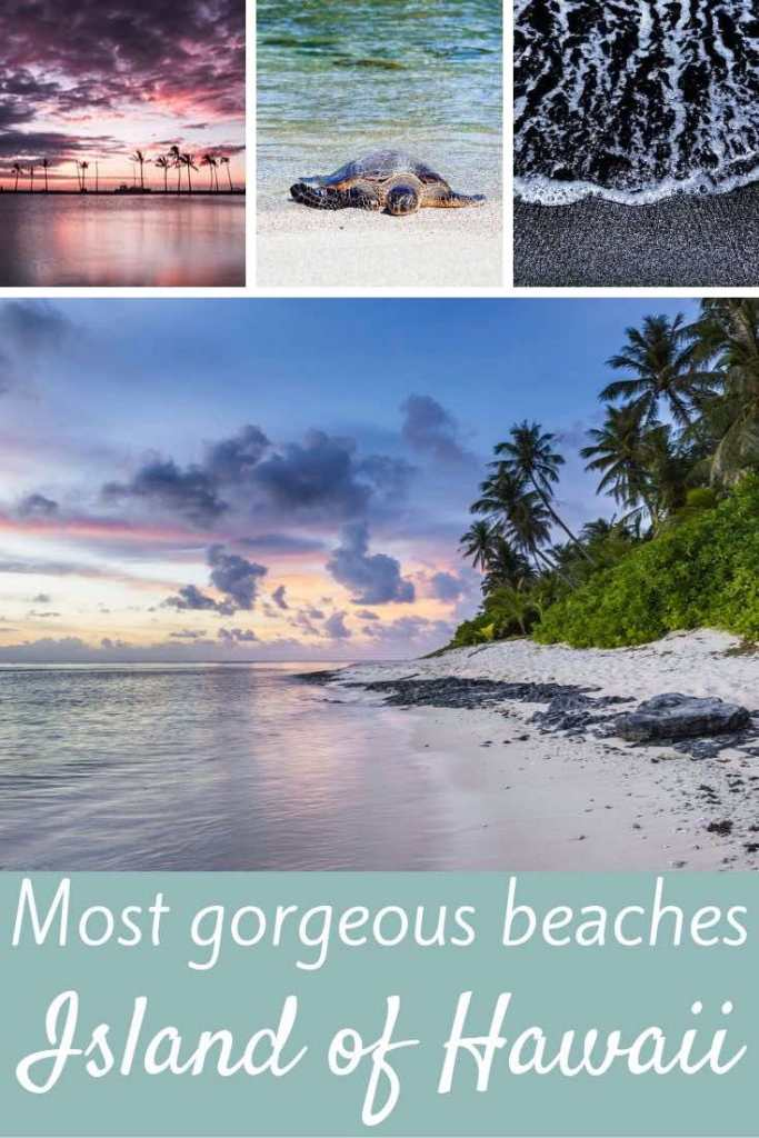 The Big Island #Hawaii is home to beaches in several shades. Here's our guide to the best beaches on the Big Island in various shades: green, black and white sand beaches. Find your Big Island #beach in this guide. Happy reading and thanks for repinning! #travel #outdoor #bigisland #beaches