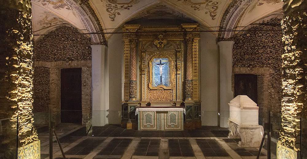Chapel of Bones in Evora is one of the creepiest places in Portugal