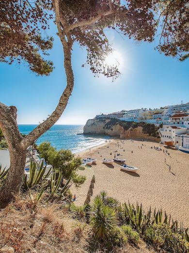 Beach of Carvoeiro Portugal