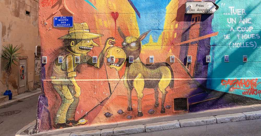 Beautiful street art in Le Panier, one of the best places in Marseille