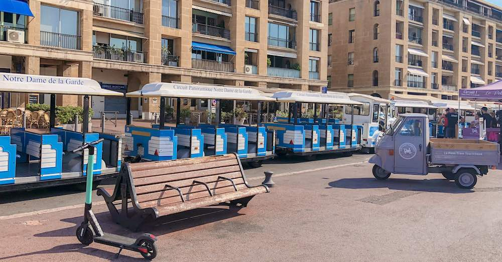 One of the easiest ways to check out the Marseille attractions is by taking the tourist train in the Old Port of Marseille France