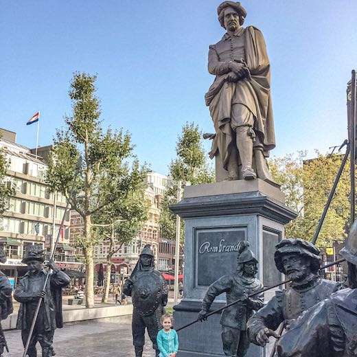 See the statue of Rembrandt at Rembrandt Square in Amsterdam during your Amsterdam 2 day trip