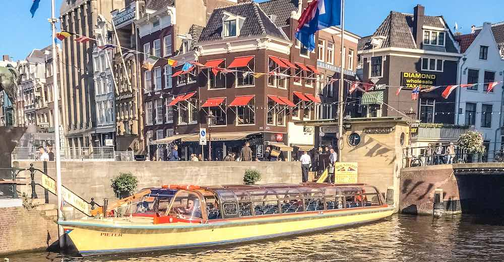 Taking a canal tour will be one of the highlights of your 2 days in Amsterdam itinerary