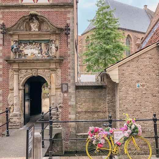 Entrance to the Gouda museum in Gouda The Netherlands