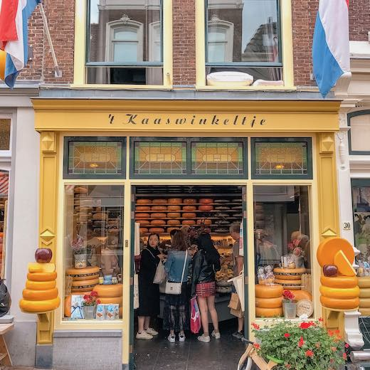 Cute cheese shop in Gouda Holland