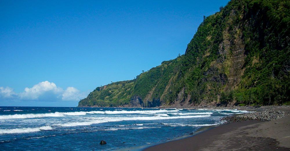 Waipi'o black sand beach Hawaii counts as one of the best beaches Big Island