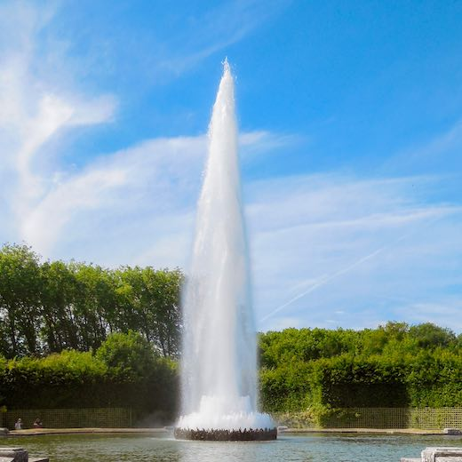 Not all Versailles tickets allow access to the Musical Fountains show
