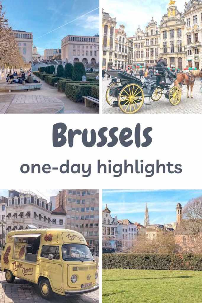 This one day Brussels itinerary includes all the highlights, from the dazzling Grand Place to its enchanting parks and sumptuous waffles. #belgium #brussels #travelitinerary #itinerary #europe #daytrip