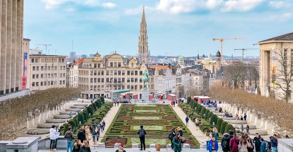 View over Brussels from the Mont des Arts