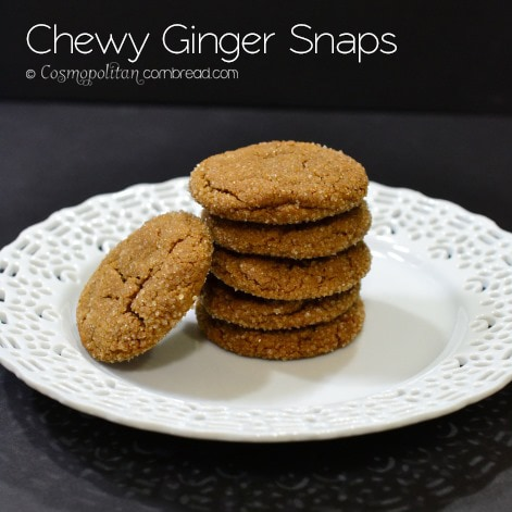 Chewy Ginger Snaps from Cosmopolitan Cornbread